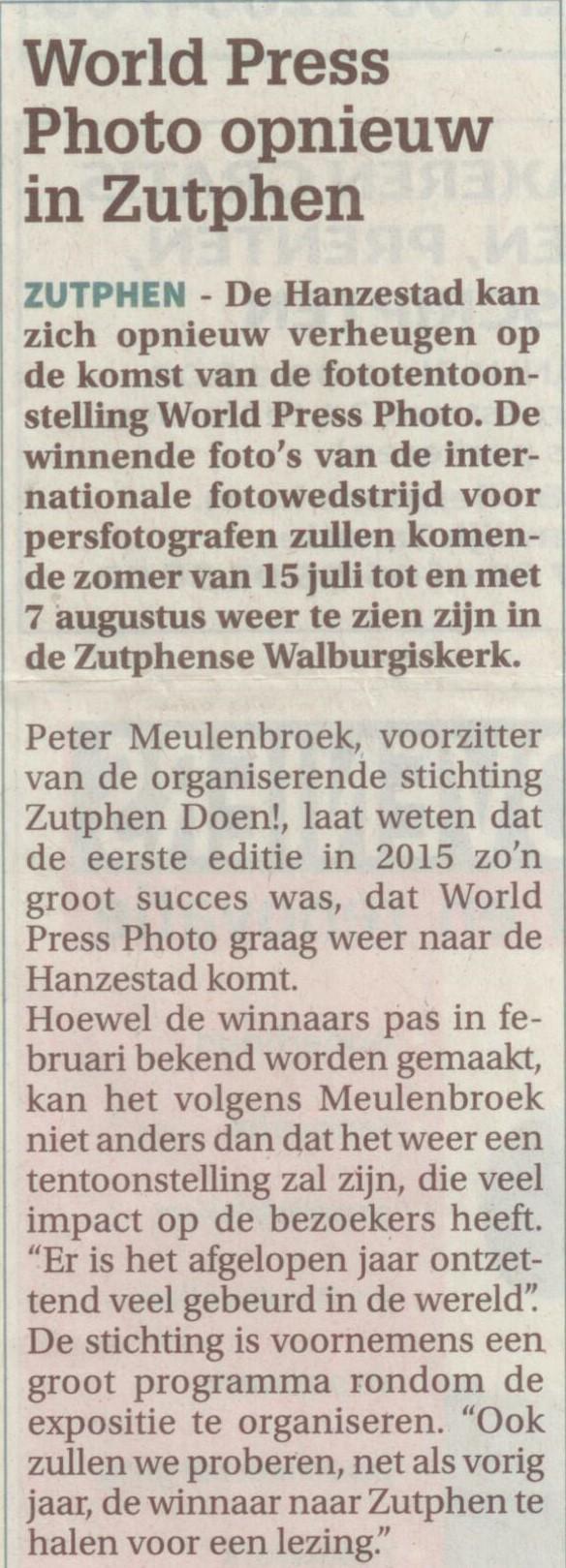 160128 Contact World Press Photo opnieuw in Zutphen