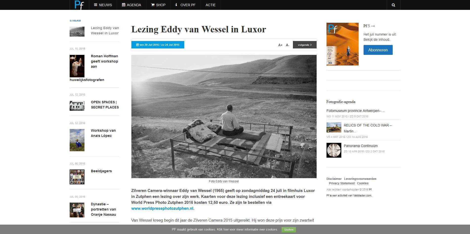 160720 PF Lezing_Eddy_van_Wessel_in_Luxor
