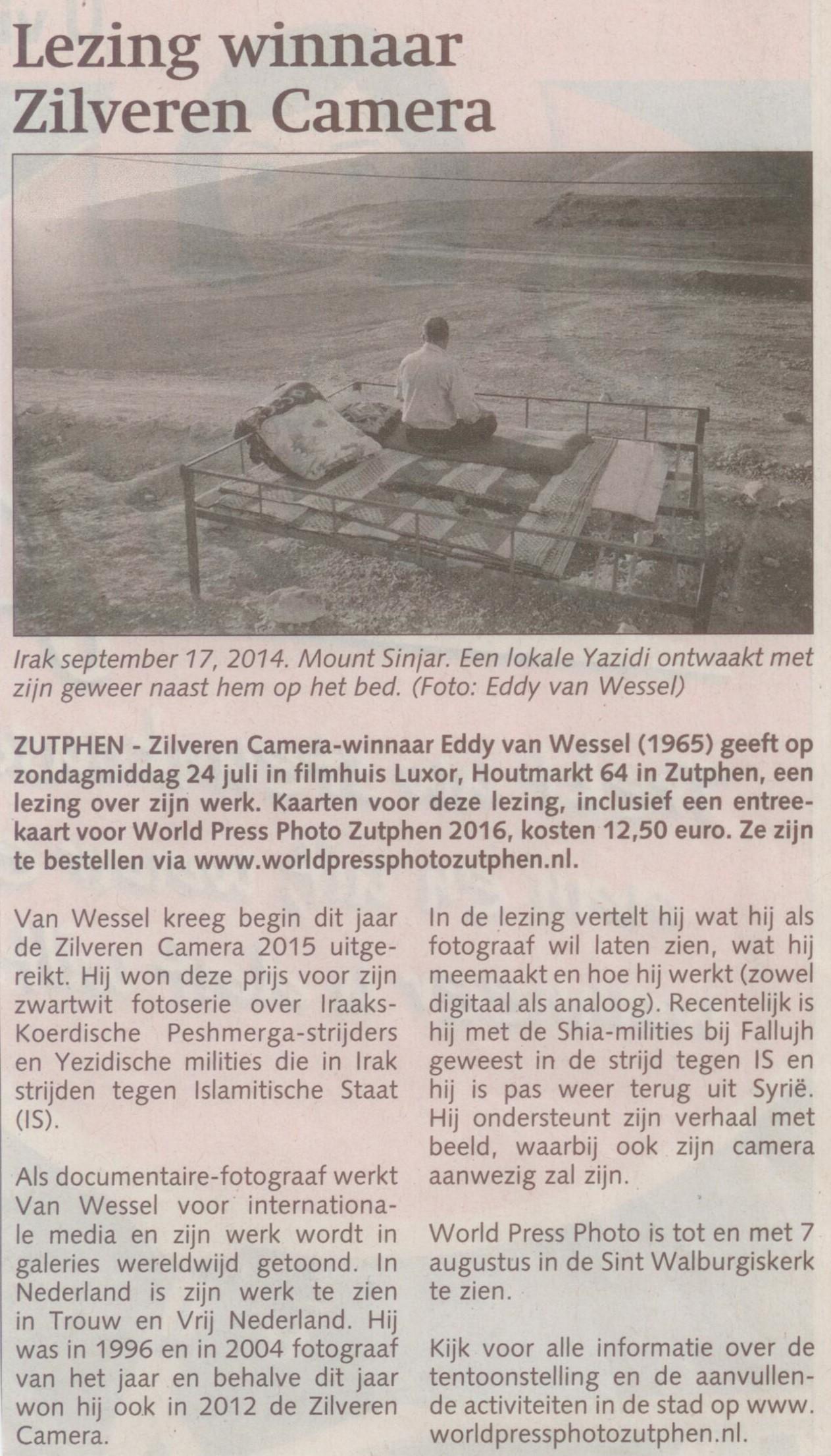 160720 Stedendriehoek Lezing winnaar Zilveren Camera