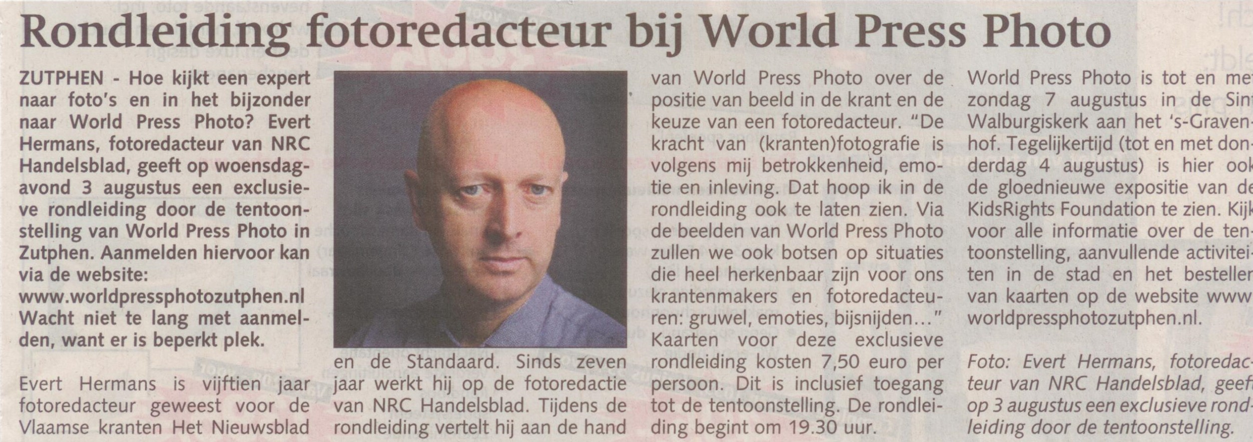160727 Stedendriehoek Rondleiding fotoredacteur bij World Press Photo