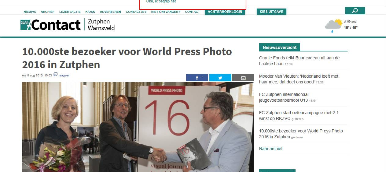 160808 Contact_Zutphen-Warnsveld_-_10.000ste_bezoeker_voor_World_Press_Photo_2016_in_Zutphen_-_2016-08-09_21.30.02